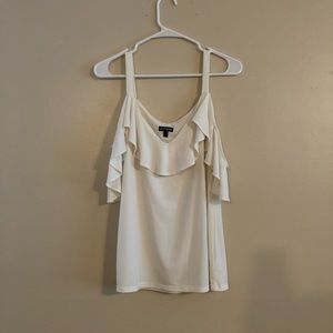 Express white off the shoulder top size medium